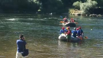 Plantel do Belenenses experimentou rafting