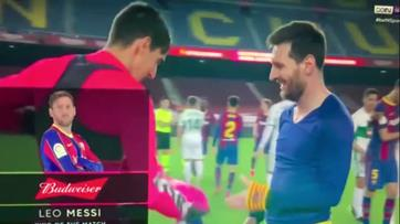 Guarda-redes do Elche surpreendido com pedido de Messi
